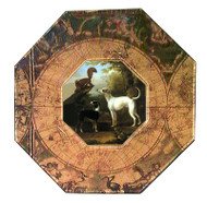Italian Greyhound Decoupage Plate