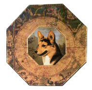 Corgi (Tri-Color) Decoupage Plate