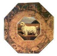 Clumber Spaniel Decoupage Plate