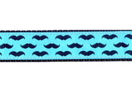 Mustache Dog Collar and Leash