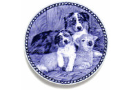 Australian Shepherd Puppy Danish Blue Plate