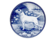 Bull Terrier Danish Blue Dog Plate (# 4)