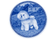 Bichon Frise Danish Blue Dog Plate (# 2)