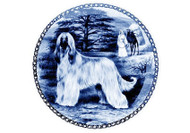 Afghan Danish Blue Dog Plate (# 3)