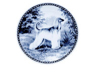 Afghan Danish Blue Dog Plate (# 2)