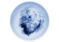 Wheaten Terrier Face Danish Blue Plate