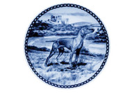 Vizsla Danish Blue Plate