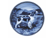 Springer Spaniel (Welsh) Danish Blue Dog Plate