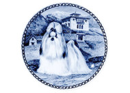 Shih Tzu Danish Blue Dog Plate (# 2)