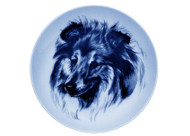 Sheltie Face Danish Blue dog Plate (# 2)
