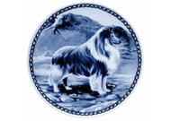 Sheltie Danish Blue Dog Plate (# 2)