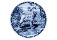 Sharpei Danish Blue Dog Plate