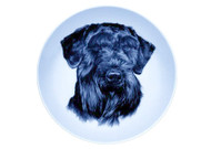 Giant Schnauzer Face Danish Blue Dog Plate (# 3)