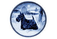 Scottie Danish Blue Plate (# 2)