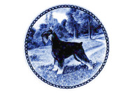 Schnauzer (Standard) Danish Blue Dog Plate (# 2)