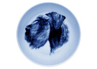 Giant Schnauzer Face Danish Blue Plate (# 2)