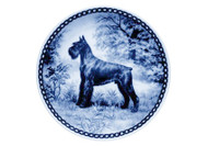 Giant Schnauzer Danish Blue Dog Plate