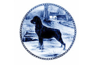 Rottweiler Danish Blue Dog Plate (# 3)