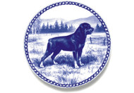 Rottweiler Danish Blue Dog Plate