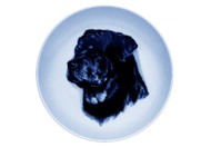 Rottweiler Face Danish Blue Dog Plate