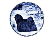 Puli Danish Blue Dog Plate