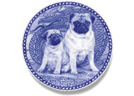 Pug Puppy Danish Blue Dog Plate