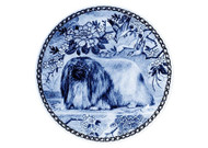 Pekingese Danish Blue Dog Plate