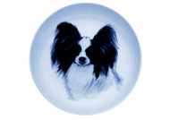 Papillon Face Danish Blue Plate