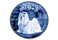 Maltese Danish Blue Dog Plate (# 2)