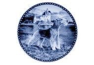 Lakeland Terrier Danish Blue Dog Plate