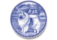 Keeshond Danish Blue Dog Plate