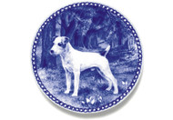 Jack Russell Terrier Danish Blue Dog Plate (# 2)