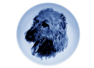 Irish Wolfhound Face Danish Blue Dog Plate