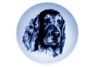 Irish Setter Face Danish Blue Dog Plate (# 2)