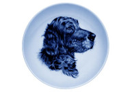 Irish Setter Face Danish Blue Dog Plate