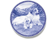 Great Pyrenees Puppy Danish Blue Dog Plate