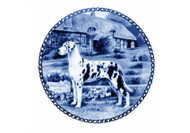 Great Dane Danish Blue Dog Plate (# 2)