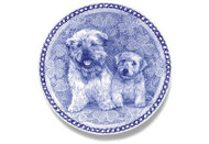 Glen of Imaal Terrier Puppy Danish Blue Dog Plate
