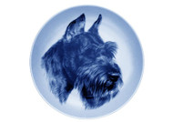 Giant Schnauzer Face Danish Blue Plate