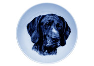 German Shorthaired Pointer Face Danish Blue Dog Plate