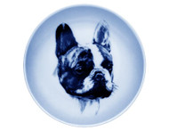 French Bulldog Face Danish Blue Dog Plate (# 2)