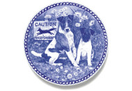 Smooth Fox Terrier Puppy Danish Blue Dog Plate