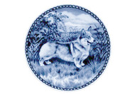 Corgi Pembroke Danish Blue Dog Plate (# 2)