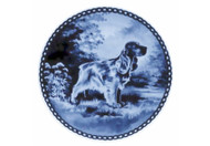 English Cocker Spaniel Danish Blue Dog Plate (# 2)