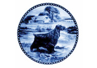 English Cocker Spaniel Danish Blue Dog Plate (# 3)