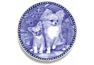 Chihuahua Puppy Danish Blue Dog Plate