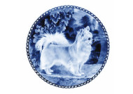 Chihuahua Long Hair Danish Blue Dog Plate