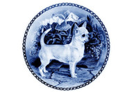 Chihuahua Danish Blue Dog Plate