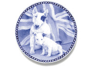 Bull Terrier Puppy Danish Blue Dog Plate