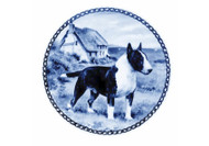 Bull Terrier Danish Blue Plate (# 2)